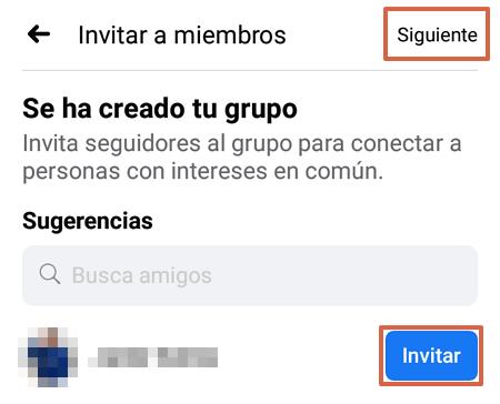 Cómo crear un grupo en Facebook desde su aplicación móvil paso 5