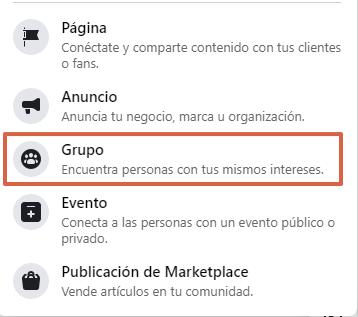 Cómo crear un grupo en Facebook desde su página web paso 3