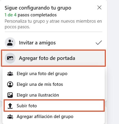 Cómo crear un grupo en Facebook desde su página web paso 5