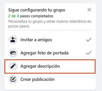 Cómo crear un grupo en Facebook desde su página web paso 7