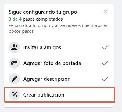 Cómo crear un grupo en Facebook desde su página web paso 9