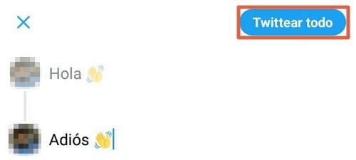 Cómo crear un hilo en Twitter desde el móvil paso 3