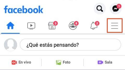 Cómo desconectar o desvincular una cuenta de Instagram con Facebook desde la aplicación Facebook paso 1