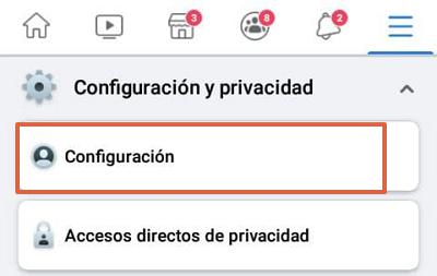 Cómo desconectar o desvincular una cuenta de Instagram con Facebook desde la aplicación Facebook paso 3