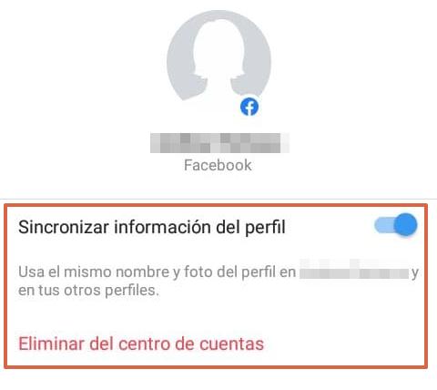 Cómo desconectar o desvincular una cuenta de Instagram con Facebook desde la aplicación Instagram paso 6