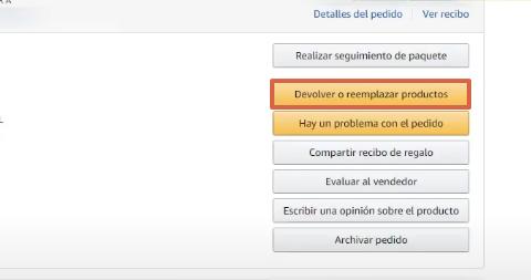 Cómo devolver un producto o pedido en Amazon paso 5