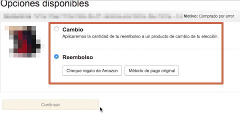 Cómo devolver un producto o pedido en Amazon paso 7