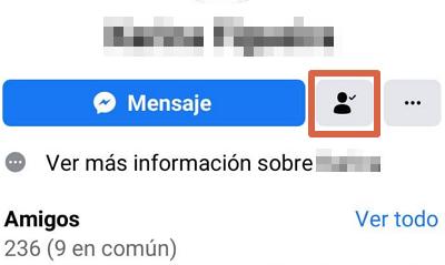 Cómo eliminar a alguien de tu lista de amigos de Facebook desde el celular usando Facebook Lite paso 5