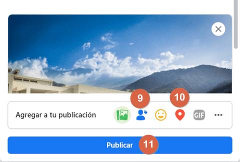 Cómo publicar fotos, imágenes o videos en Facebook desde su portal web paso 11