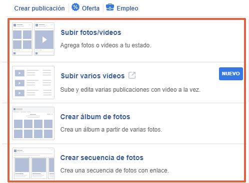 Cómo realizar publicaciones desde una página de Facebook paso 5