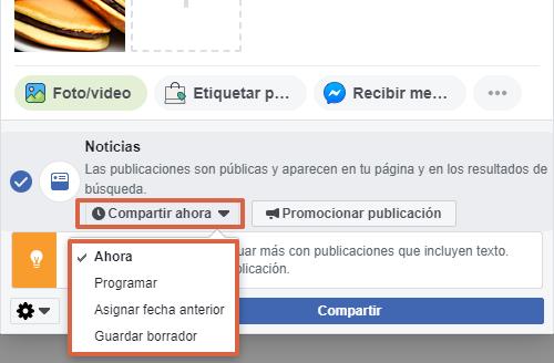 Cómo realizar publicaciones desde una página de Facebook paso 7