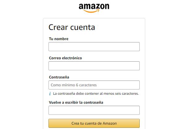 Cómo registrarse en Amazon España