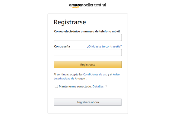 Cómo registrarse en Amazon Seller Central