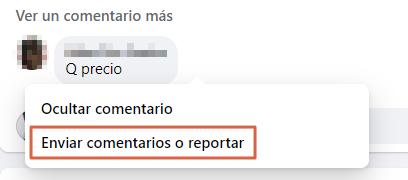 Cómo reportar un comentario en Facebook