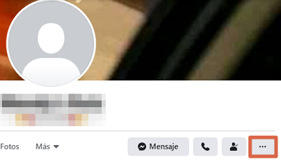 Cómo reportar un perfil en Facebook paso 1