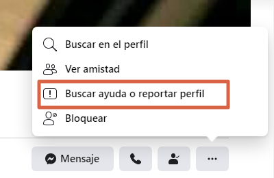 Cómo reportar un perfil en Facebook paso 2