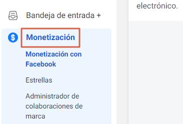 Cómo saber si puedes monetizar en Facebook desde Creator Studio.1