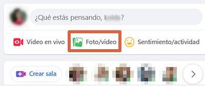 Cómo subir un GIF a Facebook desde el ordenador paso 1
