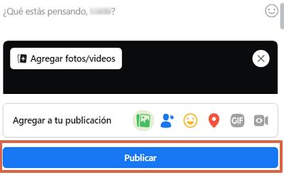 Cómo subir un GIF a Facebook desde el ordenador paso 3