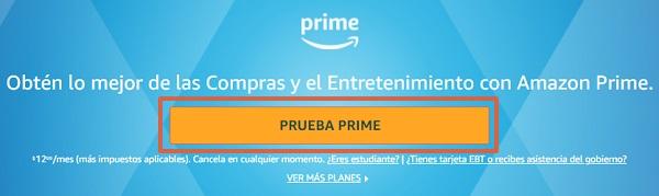 Cómo suscribirte a Amazon Prime gratis paso 3