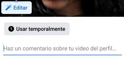 Cómo usar un GIF como imagen de perfil en Facebook paso 6