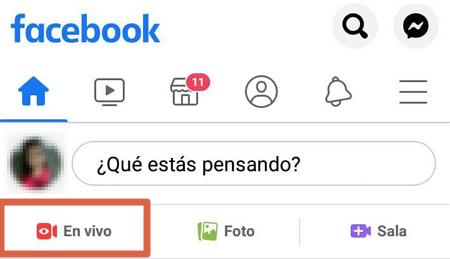 Cómo utilizar Facebook Live desde el celular paso 2