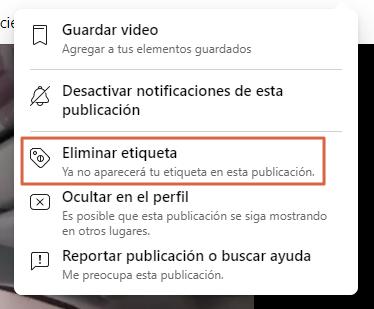 Eliminar una publicación de Facebook que inflinja las normas