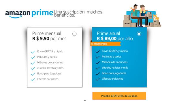 Precio de Amazon Prime Video en Brasil
