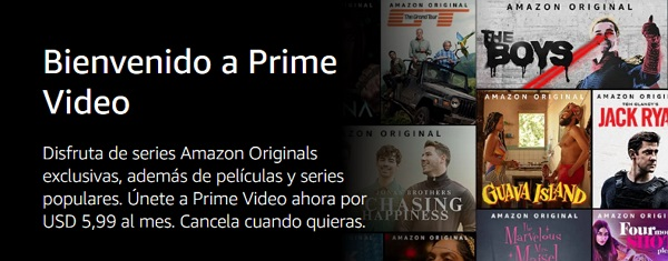 Suscripción a Amazon Prime Video