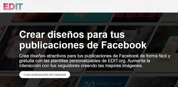 Utilizar Edit.org para crear publicaciones o post en Facebook