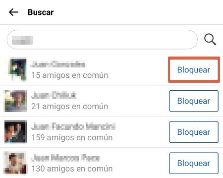 como bloquear a alguien en facebook Lite paso 5