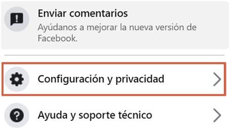 como bloquear a alguien en facebook desde la App paso 2