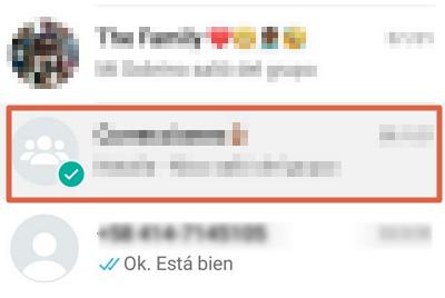 Cómo abandonar o salir de un grupo de WhatsApp desde el atajo de la ventana principal paso 1