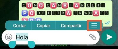 Cómo cambiar el tipo de letra o tipografía en WhatsApp desde WhatsApp u otra aplicación paso 2