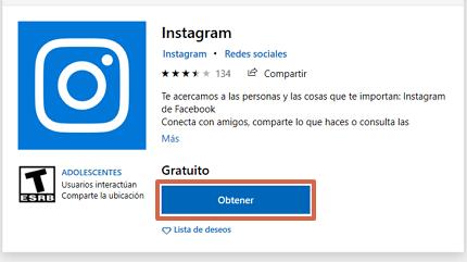 Cómo chatear en Instagram descargando la aplicación en el ordenador desde Microsoft Store paso 3