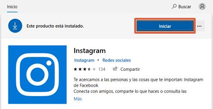 Cómo chatear en Instagram descargando la aplicación en el ordenador desde Microsoft Store paso 4