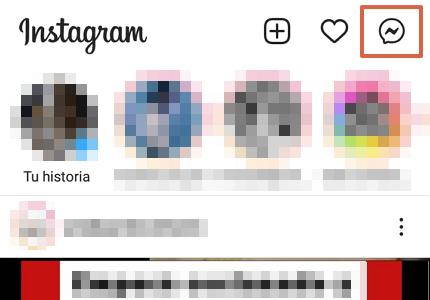 Cómo chatear en Instagram desde la aplicación móvil paso 3