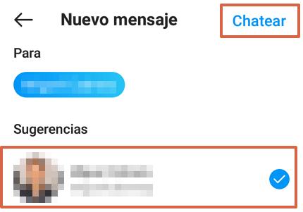 Cómo chatear en Instagram desde la aplicación móvil paso 5