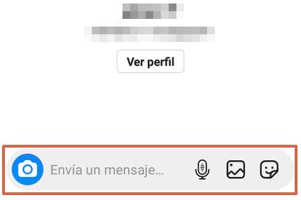 Cómo chatear en Instagram desde la aplicación móvil paso 6