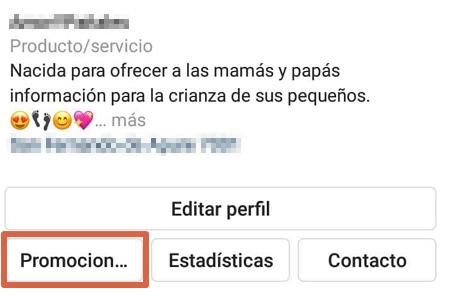 Cómo crear un anuncio en Instagram desde la app paso 2