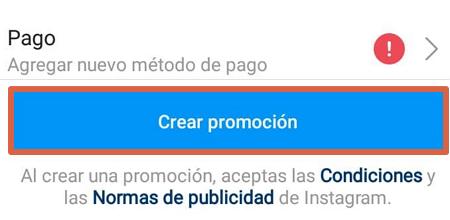 Cómo crear un anuncio en Instagram desde la app paso 7