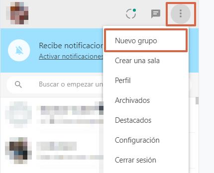 Cómo crear un grupo de WhatsApp desde WhatsApp Web paso 5