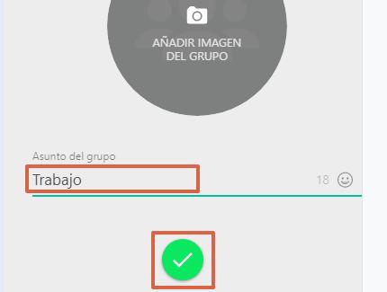 Cómo crear un grupo de WhatsApp desde WhatsApp Web paso 7