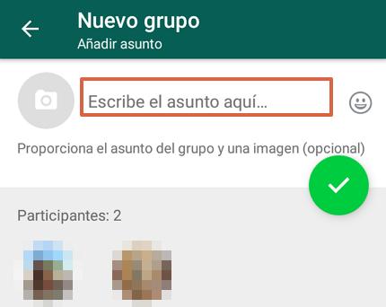Cómo crear un grupo de WhatsApp desde un Android paso 5