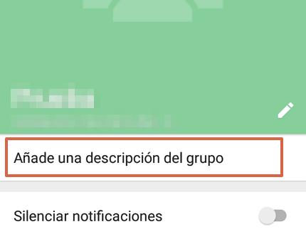 Cómo editar la información de un grupo de WhatsApp desde un Android paso 3