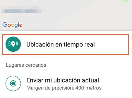 Cómo enviar la ubicación exacta por WhatsApp desde un Android paso 6