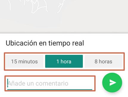 Cómo enviar la ubicación exacta por WhatsApp desde un Android paso 7