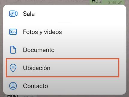 Cómo enviar la ubicación exacta por WhatsApp desde un iOS paso 7