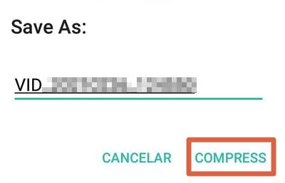 Cómo enviar videos largos o pesados por WhatsApp sin que se corten usando Video Compressor paso 6
