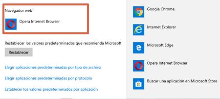 Cómo establecer un navegador predeterminado desde una computadora con Windows 10 paso 4